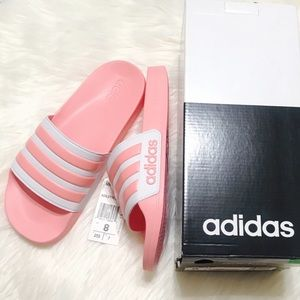 {Adidas} Pink Adilette Shower Slides